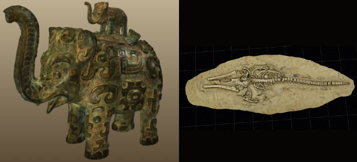 3D scanned model of artefacts from the Smithsonian Institution.