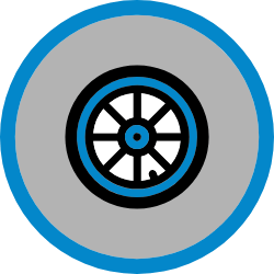 Car Tyre Icon Hover